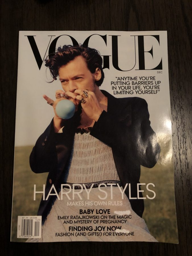 Cover of December Vogue Magazine